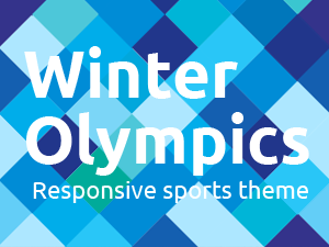 Winter Olympics theme for Wordpress